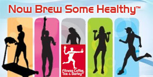 Athletes with logo Fitness Coffee